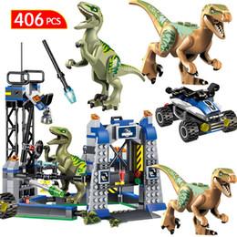$enCountryForm.capitalKeyWord Australia - Jurassic World 2 Blocks Jurassic Park Dinosaur Transport Tyrannosaurus Rex Animal Bricks Toys For Children Gift MX190731