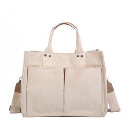 $enCountryForm.capitalKeyWord NZ - High Quality Cotton Canvas Tote Casual Beach Bags Large Capacity Foldable Grocery Bags Casuak Blank Ladies Shoulder Bag J190704