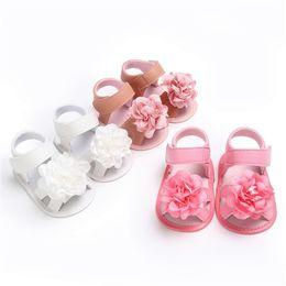 Soft Soled Shoes Australia - Summer Girls Sandals Toddler Newborn Baby Girl Crib Shoes Flower Soft Sole Anti-slip Sandals NDA84L24