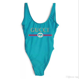 High-end single piece girl one-piece swimsuit printing letter swimsuit children's beach clothing 2T-8T on Sale