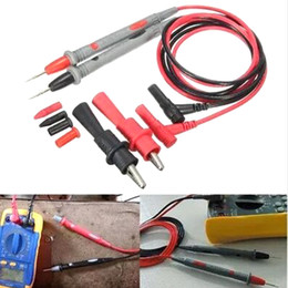 Discount test clip wire - New 1000V 20A Probe Test Lead + Alligator Clips Clamp Cable Wire Test For Multi Meter Tester Digital Multimeter IC Pins