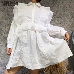 Wholesale korean style autumn clothing resale online – SuperAen Korean Style Women Shirts New Autumn Fashion Casual Wild Long sleeved Blouses Female Solid Color Women Clothing