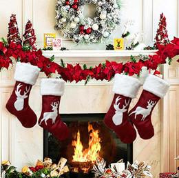 christmas ornament 2019 - Christmas Gift Bag Christmas Stocking Christmas Tree Ornament For Kids Candy Bag Stocking New Year Prop Socks Xmas Decor