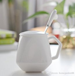 CeramiC lids online shopping - Ceramic Cup Retro Breakfast Milk Cup Water Cups Coffee Cups Creative Diamond Cup Custom Drinkware