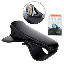 Discount retail cell phone stands - Universal Car Mount Cell Phone Holders Adjustable Dashboard HUD Simulating Design Car Stands For iPhone Samsung Huawei w