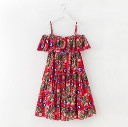 b5b3aadba52683 Wholesale juniors clothes online shopping - Big Girl Printed Floral Dress  Kids Clothing Fashion Teenager Fashion