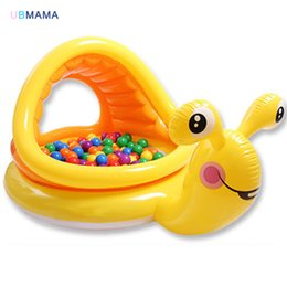 Activity & Gear Mother & Kids Yellow Snail Inflatable Paddling Pool Summer Children Play Pool Birthday Gift Non-Ironing