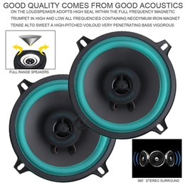 car speakers door Australia - 5 Inch 60W Car Coaxial Speaker Vehicle Door Auto Audio Music Stereo Full Range Frequency Speakers with Gasket and Horn Cover