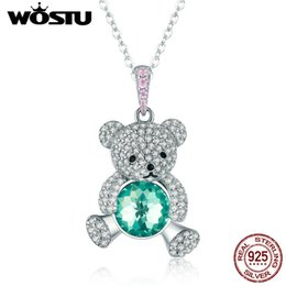 $enCountryForm.capitalKeyWord Australia - Wostu High Quality 925 Sterling Silver Sparkling Cute Bear Pendant Choker Necklace For Women Girl Jewelry Birthday Gift Cqn265 J190526