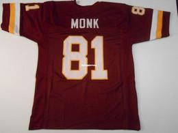$enCountryForm.capitalKeyWord Australia - Cheap Retro custom Sewn Stitched #81 Art Monk Burgundy MITCHELL & NESS Jersey High-end Men's Football Jerseys College NCAA