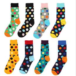 Happy Baseball Australia - Happy Socks 8 Styles Fashion High Quality Men's Polka Dot Socks Men Casual Cotton Socks Men's Colorful Business Meias Sox 24pcs=12pairs