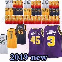 45 Donovan Mitchell jersey 27 Rudy Gobert 12 John Stockton 3 Ricky Rubio 2  Joe Ingles 24 Grayson Allen 32 Karl Malone jerseys 2019 new ede696a9b