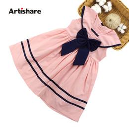 $enCountryForm.capitalKeyWord UK - Girls Sailor Dress Summer Teenage Girls Party Dress Sailor Dress For Girls Age 6 8 10 12 13 14 Year School Clothes Q190522