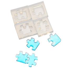 Diy Boys Toys UK - 4pcs set Puzzle Gemstone Crystal Mold Silicone Mould DIY Jewelry Pendant Making Tools for Epoxy Boy Enjoy Toys
