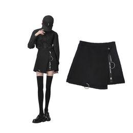 ec2daad4ee11 Harajuku Skirt Pendant Decoration Irregular Design Women Mini Skirts High  Waist Feminina Y19041901