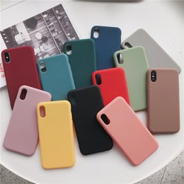 $enCountryForm.capitalKeyWord Australia - Plain Solid Color Cases For iPhone 6 6s 7 8 Plus X Xs Max XR Drop-resistant Dirt-resistant Anti-scratch Shockproof Simple Cute Shell Cover