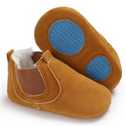 pair boys shoe Australia - Baby Soft Sole Leather casual Anti-slip Shoes newborn Toddler Boys Girls Geometry Shoes one pairs
