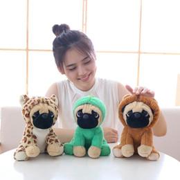 $enCountryForm.capitalKeyWord NZ - 20CM Stuffed Simulation Dogs Soft Plush Sharpei Pug Lovely Puppy Pet Toy Plush Animal Toy Children Kids Birthday Christmas Gifts