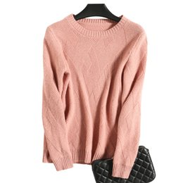 China 2019 Winter Cashmere Sweater O-neck Women Knitting Wool Sweaters Women Pullover Tops Loose Outwear Lady Cable Knit cheap cashmere cable knit suppliers