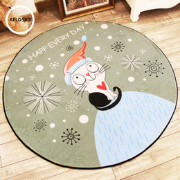 bath chairs 2019 - New Round Carpets for Living room bedroom Rugs Kids Room computer chair Mat Rug Bath Kitchen Waterproof Non-slip Cartoon