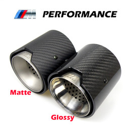 $enCountryForm.capitalKeyWord NZ - 2PCS Real Carbon Fiber Exhaust Pipe Muffler tip For BMW M Performance 235i 240i 335i Akrapovic exhaust tips