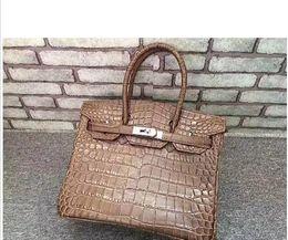 $enCountryForm.capitalKeyWord Australia - 28CM 2018 Brand Designer Alligator Totes bags luxury women Genuine leather Cowhide Shoulder Bags Fashion lady Handbag Factory wholesale