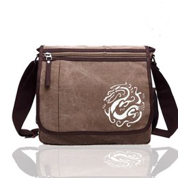$enCountryForm.capitalKeyWord UK - Chinese element Dragon Canvas Messenger Bag mens Crossbody Bags shopping Canvas bag for Men-4 Color