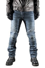 Men s winter gear online shopping - Motorcycle Warm Velvet Jeans Motocross Protective Gear Winter Pant Racing Off Road Trousers With Protector