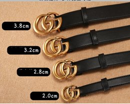 Box Design Free Australia - 2018 fashion design belts for men and women fashion alloy smooth buckle belt waist high qualtiy realy leather belts black color no box free