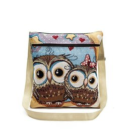 $enCountryForm.capitalKeyWord Australia - Nice Women Crossbody Bags Big Eye Owl Embroidery National Style Lady Shoulder Bag Cross-border Female Handbag