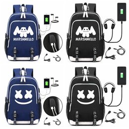 Harry Potter Hogwarts Backpack USB Charging Headphone Teenagers Kids Schoolbag