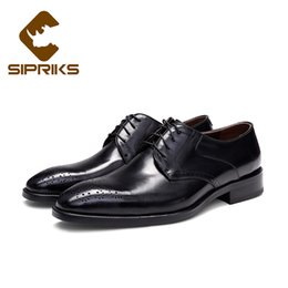 Formal Shoes Supply Sipriks Classic Genuine Leather Printed Crocodile Skin Dress Shoes Boss Mens Business Office Gents Suit Social Formal Tuxedo 44
