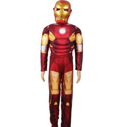 medieval renaissance clothing UK - Children The Iron Man Costume With Musle .stretchy Party Clothes ,clothing For Kid Nl0090