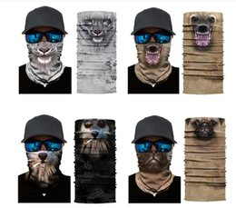 3d animal face mask NZ - DHL 3D Animal Bandana Rave Face Mask Dust Wind UV Protection Scarf Sports Headwear Neck Gaiter Balaclava for Men,Women 25*50cm