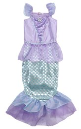 Dress Tails UK - 2019 3-10Y Toddler Kid Girl Dress Bling Mermaid Costume Ariel Fancy Princess Party Long Tail Maxi Cosplay Dresses Baby Clothes Outfit
