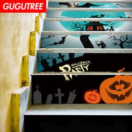 $enCountryForm.capitalKeyWord NZ - Decorate Home 3D Hallowmas cartoon art wall Stair sticker decoration Decals mural painting Removable Decor Wallpaper G-653
