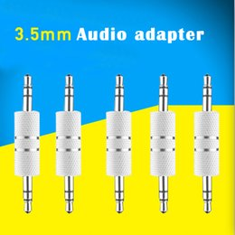 Audio Tablet Australia - Audio adapter aux 3.5mm Metal Male to Male Headphone Audio Adapter Connector for MP3 Headset Car Phone Speaker Tablet iPhone IOS Android