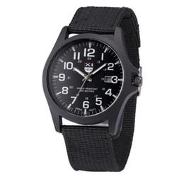 Mens Military Wrist Watches Australia - Casual Men's Watch Quartz-Watch Clock Outdoor Mens Date Stainless Steel Reloj Military Sports Analog Quartz Army Wrist Watch