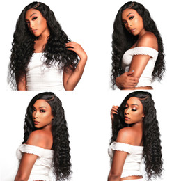 long african hair waves hairstyle Australia - All Density Bleached Knots Deep Wave Curly Wigs For African Americans Virgin Brazilian Human Hair Full Lace Wigs For Black Women
