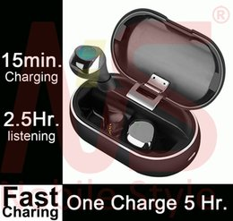 bluetooth headset charge Canada - 10pcs Mini TWS Earbuds #72 Hours with charging Case# Wireless Bluetooth Earphones 5.5Hrs on ONE charge PK H1 chip Air AP2 AP3 Pods i12 i500