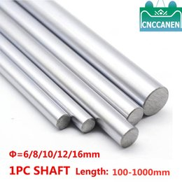 rails for cnc NZ - 1PC 6mm 8mm 10mm 12mm 16mm OD Linear Shaft Length 100-1500mm Cylinder Liner Rail for 3D Printer Axis CNC Parts
