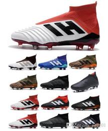 60098fe00f3 2018 Men Predator 18+ 18.1 FG Soccer Cleats Chaussures De Football Boots  Mens High Top Soccer Shoes Predator 18 Soccer Boots