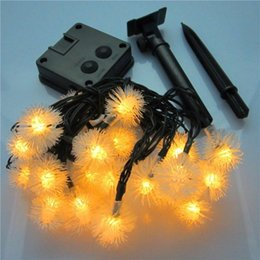 christmas lights drops UK - Solar Energy Hairball String Light Outdoor  Indoor Dandelion Lamp Decoration Garden Patio Festival Christmas Tree Warm Color Light ,