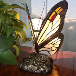 $enCountryForm.capitalKeyWord Australia - FUMAT Stained Glass Butterfly Table Lamps Art Creative Tiffanylamp For Living Room Bedside Lamp Decor Art Glass LED Table Light