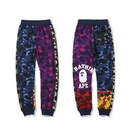 Corduroys pants online shopping - Bape Mens Designer Pants Fashion Mens Best Quality Casual Sweatpants Luxury Mens Designer Trousers Multi Color M XL