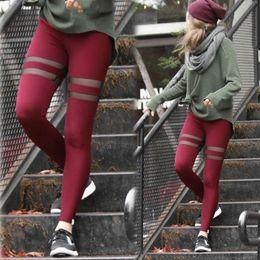 $enCountryForm.capitalKeyWord Australia - Women Yoga Pants Mesh Patchwork Skinny Slim Trouser Workout Leggings Fitness Pencil Pant Stylish Womens Running Sports Pants