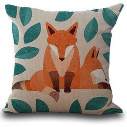 $enCountryForm.capitalKeyWord NZ - Pillow Case Fox Print Sofa Bed Home Decoration Cushion Cover taie doreiller enfant football coton rectangle sofa cushion19JUL17