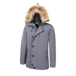 Warmest Goose Down Parka Australia - PinkStar Canada Style Goose Down Jacket Outdoor sports Parka Man thick Outerwear high quality Fur collar with Hooded Warm Coats 1.35kg