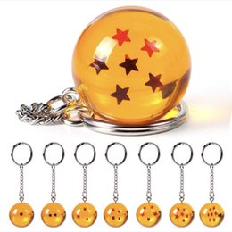$enCountryForm.capitalKeyWord Australia - New 2.7cm 7pcs set Orange Stars Crystal Ball Dragon Ball Z Action Fgure Keychain Pendant For Kids Party Gifts