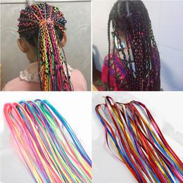 $enCountryForm.capitalKeyWord Australia - 90CM Hair Styling Tool Silk Cord Hair Knitting Braided Rope Headband Jewelry Design Hair Accessories For Girls DIY Ponytail